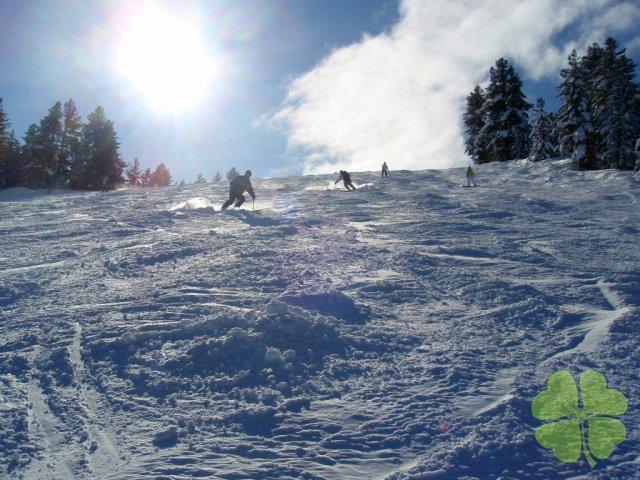 The ski pistes in Bansko