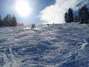 The ski pistes in Bansko